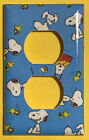 Peanuts Snoopy Woodstock Light Switch Power Duplex Outlet Cover Plate Home Decor