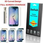 2X Curved FULL COVER Screen Protector - Samsung S6 Edge / Edge+ Plus & 3 Stylus