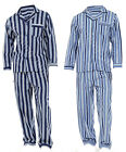 Mens Loungewear Brushed Striped Flannel Cotton Pyjama Set Winter Warm  Pjs