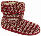 Mens Coolers Fairisle Boot Slippers Warm Faux Wool Lined Knitted Slipper Boots