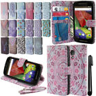 For Motorola Moto G 2014 XT1068 2nd Gen Wallet LEATHER POUCH Case Cover + Pen