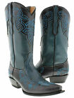 women's black turquoise cowboy boots ladies leather floral stiched western rodeo