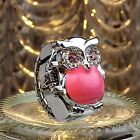 New Creative Retro Owl Finger Watches For Women Clamshell Ring Watch Girl's GiftRing Watches - 173698