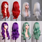 NEW Makeup Party 70cm Wavy Heat Resistant Women Anime Cosplay Hair Wig 13 Colors