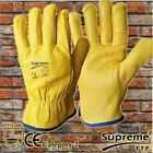 100 Pair Driver Gloves Fleece Lined Leather Lorry Drivers Work Glove DIY Quality