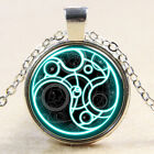Unisex Sweater Chain Mysterious Doctor Time Pattern Pendant Jewelry Necklace BD