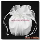 Satin & Organza Bridal Dolly Bag/Flower Girl Bridesmaid Handbag/Communion Pouch