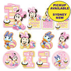 MINNIE MOUSE 1ST BIRTHDAY PARTY SUPPLIES 12 CUTOUTS SCENE SETTER DECORATIONS