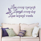 Live Laugh Love Inspirational Saying Living Room Bedroom Wall Sticker Decal