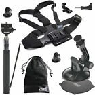 Chest Harness/Selfie Pole/Car Mount for GoPro Hero 7 6 5 4 Black Silver SJCAM