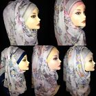 Large Floral Print New Design Cotton Hijab, Scarf, Womens Shawl