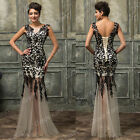 Sexy Lady Long Masquerade Ball Gown Formal Party Evening Prom Vintage LACE Dress