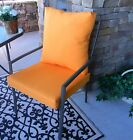 Tango Orange Solid Cushion & Pillow Set for Patio Dining, Choose Size