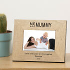 Me And Mummy Wood Frame 6x4 Personalised Engraved Gift Present