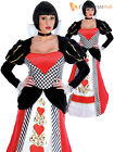 Ladies Queen of Hearts Fancy Dress Costumes Adults Sexy Fairytale Womens Outfit