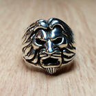 Solid Sterling Silver Lion Ring Size 8