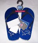 WOMEN'S Forever Collectibles NFL 2014 Glitter Flip Flops Detroit Lions NEW W TAG