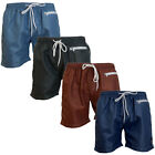 mens Crosshatch Mesh Lined Zip Pocket Beach Swim Shorts Summer Surf Board Trunks
