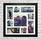 Your 9 PHOTO/PICTURE COLLAGE MONTAGE FRAMED PRINT - PERSONALISED GIFT FRAME