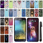 For Samsung Galaxy E7 E700 PATTERN HARD Protector Back Case Phone Cover + Pen