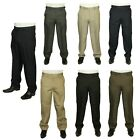 MENS BRAND NEW CARABOU TROUSER EXPANDA BAND IN 5 COLOURS 32 TO 56 BIG WAISTS