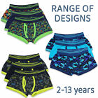 Boys Kids Childrens Trunks Boxer Shorts Cotton 3Pack Elasticated Waist Underwear