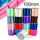100mm Satin Ribbon Reels Extra Wide Wedding Car Party Sash Ribbon 50m Long