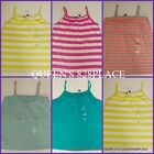 NWT GAP KIDS girls orange teal blue striped ruffle tank top t-shirt size 12 NEW