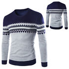 Simple Men Warm Winter Pullover Slim Fit Knit Sweater Crew Neck Casual Jumper