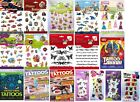 Children's Temporary Tattoos, Pirates, Moshi, Zoobles, Princess, My Little Pony
