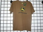 John Deere T-Shirt, Men's John Deere T Shirt 13001430. NWT. Brown Basic Logo