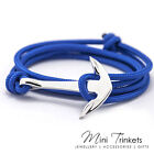 Mens & Womens Anchor Bracelet Leather Roped Wrap Around Bangle Gift Present