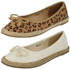 Ladies Spot On Flat Espadrilles F2233 - NO BOXES