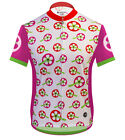 Aero Tech Designs Womens Cycling Bike Jersey Pink Strawberry Fields Made in USA