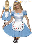 Ladies Alice Fairytale Costume Adult Womens Deck of Cards Fancy Dress UK 8 - 18