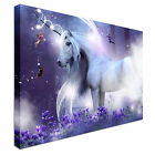 Purple Unicorn Magic Canvas wall Art prints high quality great value