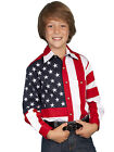 SCULLY Kid's Youth Patriotic Red White Blue American Flag Western Shirt RW029K