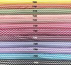 100% Cotton Chevron Pattern (10cm sample colour testers & per metre purchasing)