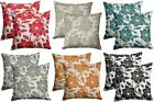 "Peony Floral Chenille Cushion Covers 6 Fab Colours 18"" & 22"""