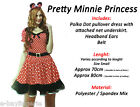 Sexy Cute Minnie Mouse Animal Halloween Party Costume Fancy Dress Polka Dot