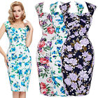 Plus Size Vintage 1950s Fifties Retro Women ladies Pinup Swing Wiggle Prom Dress