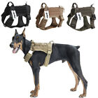 Tactical Dog Harness Nylon Training Military Patrol K9 Service Dog Vest w/Handle