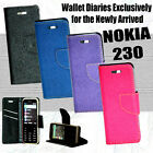 DIARY WALLET STYLE FLIP FLAP COVER CASE For NOKIA 230