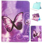 Purple Butterfly Leather Flip Stand Case Cover Shell for iPad 2 3 4 Mini Air