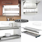 2-Tier Stainless Steel Folding Dish Drying Dryer Racks Dr...