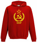 RUSSIA HOODY  RETRO CCCP SOVIET UNION HAMMER AND SICKLE COMMUNIST SOCIALIST