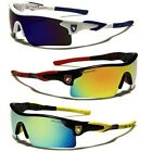 Khan Polarized Mirror Lens Mens Fishing Cycling Baseball Sport Wrap Sunglasses