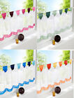 Rainbow Window blind Home Kitchen Bathroom Sheer Cafe tape Curtain