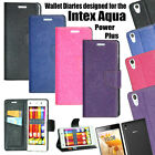 DIARY WALLET STYLE FLIP FLAP COVER CASE For INTEX AQUA POWER PLUS