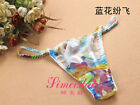 3PCS Women's 100% Silk Thongs panties Floral Size S M L XL XXL